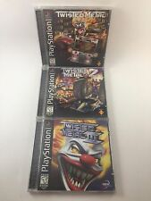 Twisted Metal Trilogy I II & III Black Label Complete In Box CIB PlayStation 1!!
