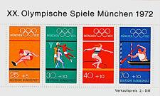 Briefmarken mit Motiven von den Olympischen Spielen aus der Bundesrepublik