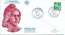 FRANCE FDC - 281 1115A 1 MOISSONNEUSE - PARIS 12 1 1959