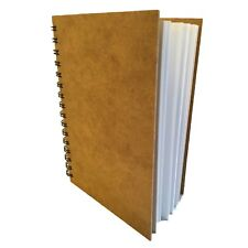 Hard Back Spiral SketchBook A5 PORTRAIT recycled cartridge paper pad 170gsm