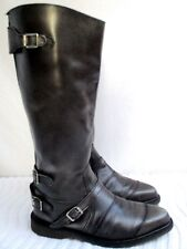 DR. MARTENS..KNEE HIGH..MEN'S..ROCK PUNK..EXPOSED ZIPPER..LEATHER..BOOTS..sz 9
