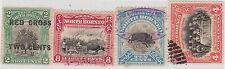 (LU77) 1918 North Borneo 4mix of stamps