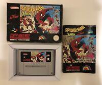 Spider-Man Xmen Arcades Revenge Nintendo Entertainment System SNES Game Boxed