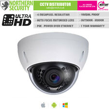4MP 2.8-12MM Motorized Lens Audio 30M IR POE IP Dome Security Camera Onvif P2P