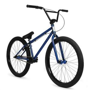 "Elite Enforcer CrMo 26"" BMX Bicycle Bike 3-Piece Crank Blue NEW 2021"