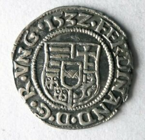 1532 HUNGARY DINAR - AU - Incredible Silver Coin - BIG VALUE - Lot #S20