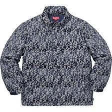 Supreme F**K Jacquard Puffy Jacket Navy, MEDIUM (SOLD OUT!!!!)
