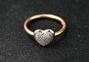 LINKS OF LONDON Ladies Diamond Essentials Rose Gold Heart Ring L NEW RRP215