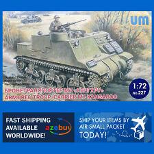 """Armored Troop-carrier M7 """"Kangaroo"""" 1/72 Scale Plastic Model Kit UniModel 227"""