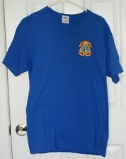 CMA Short Sleeve Shirt Christian Motorcyclist Association Blue Short Sleeve Med