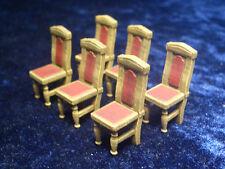 6 piece set of Chairs 2 Thomarillion Unpainted Metal Dwarven Forge D&D