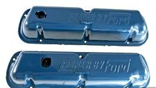 New! Ford Mustang Blue Valve Covers 289 302 V8 Power by Ford Logo Pair