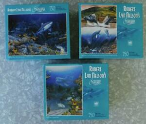 Robert Lyn Nelson's Seascapes 750-pc Jigsaw Puzzle Lot of 3 New/Sealed 2004