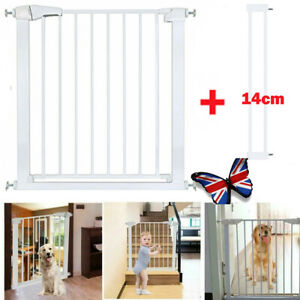 Child Safety Lock baby pet Gate Stair Divider Barrier 75-82cm, 14cm extensions