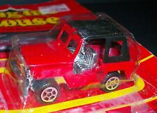 VTG ENGINE HOUSE Red Fire Jeep Car Vehicle Die Cast Toy Metal SUPER RARE!