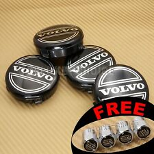 SET OF 4 PCS LOGO CAP HUB CENTER for FACTORY VOLVO CAR ALLOY WHEEL 64MM 2.52""