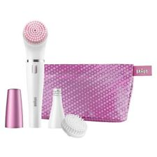 NEW BRAUN Face Hair Removal / Face Washing Machine SE 832-S with Pouch Japan F/S