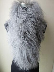 Real Mongolia Lamb Fur Scarf Women Winter Warm Shawl Wraps Natural curly