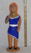 """11"""" Prostitute Mexican Folk Art Statue Figure Josefina Aguilar Alcantara Oaxaca"""