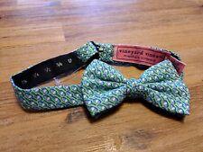 Vineyard Vines Silk Boys Bow Tie, Lobster Bouys, Green, NWT