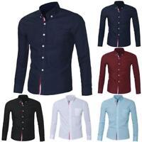 Fashion Mens Luxury Long Sleeve Casual Slim Fit Stylish Dress Shirts Blouse Hot