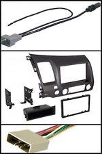 Grey 06-11 Civic Stereo Radio Dash Install Kit/Wire Harness/Antenna Adapter