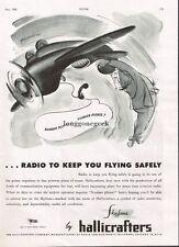 1945 Hallicrafters Skyfone Alex Yaworski Cartoon Vintage Radio Print Ad