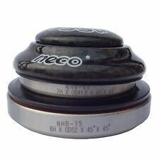 "NECO MTB Bike Carbon Fiber Threadless Headset 1.5/1-1/8"" Stem 41.8/52mm Bearings"
