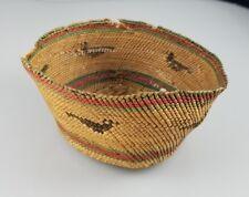 Vintage Tlingit or Makah Native American Indian Trinket Basket – Bowl – 4�