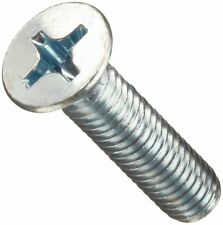 Steel Machine Screw, Zinc Plated Finish, Flat Head, Phillips Drive, 16mm Length,