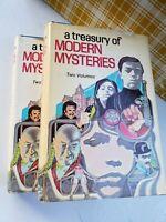 A TREASURY OF MODERN MYSTERIES, VOL.1 & 2, IAN FLEMING, DOUBLEDAY BOOKS, 1973