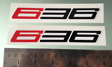 636 Fairing Decals / Stickers for ZX-6R ZX6R (Any Colour) (PAIR) (140mm x 21mm )