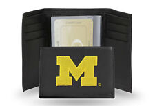 Michigan Wolverines Embroidered Leather Tri Fold Wallet by Rico