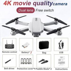 Faltbare Drohne 4K HD Kamera FPV Wifi Quadcopter Mini RC Drone mit 3 Akkus+Bag