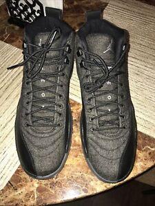 Nike Air Jordan 12 Retro Wool Dark Grey 2016 Size 11