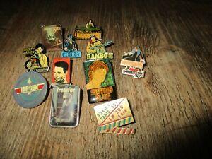 Lot pin s-Films a succès années 80-Stallone,Cobra,Rambo,Terminator,New York 97..