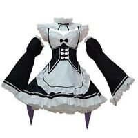 Women Maid Costume Anime Cosplay Lolita Fancy Dress Black Headwear 3XL