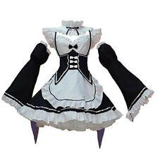 Mujeres Disfraz De Mucama Anime Cosplay Lolita Elaborado Vestido Negro Headwear 3XL