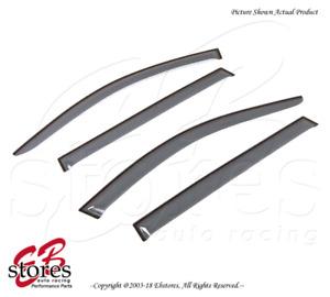 For BMW 530i 535i 535xi Wagon 2006-2010 Tape On Ash Grey JDM Visor Deflector 4pc