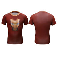 Super Héro Marvel Costume Pour Hommes T-shirt manches courtes Avengers Pull-over