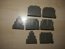 Lego Felsen Rock Mauern alt dunkelgrau 3d Ritterburg 7 stück