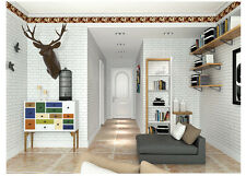 10M wallpaper 3D Brick White Slate White Brick Vintage Aged Look White Color