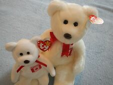 TY BEANIE BUDDY and  BABY SET - MAPLE -  CANADA EXCLUSIVE BEAR - JULY 1 BIRTHDAY