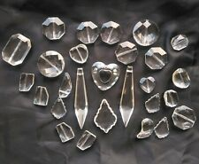 Clear Faceted Glass Pendant Beads Lot DIY Jewelry Making Supply clear quartz NEW