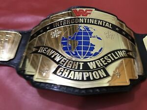 WWF Intercontinental Championship Belt in 4MM Brass Plates with red logo of wwf