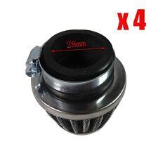 4x 28mm PERFORMANCE AIR FILTER FOR HONDA YAMAHA SUZUKI CRF50 DIRT QUAD BIKE ATV