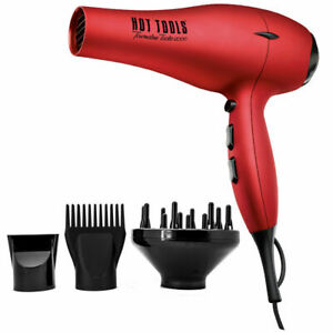 Hot Tools 1043RD Red Tourmaline Tools 2100 Turbo Ionic Dryer