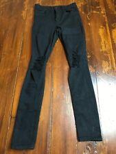 TT3 Womens Express High Rise Legging Jeans Black Distressed Size 4