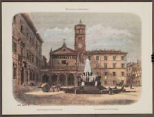 Felix Benoist Rome Dans Sa Grandeur Sainte-Marie Du Transtevere Lithograph tob