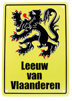 NEW NOVELTY LEEUW VAN VLAANDEREN (LION OF FLANDERS) GIFT CYCLING ROAD SIGN